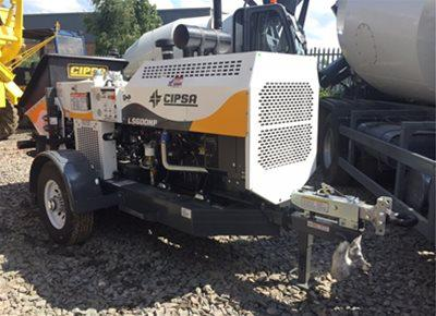 1 off Ex-hire HYDROPUMP model LS600 Trailer Mounted Concrete Pump (2017)