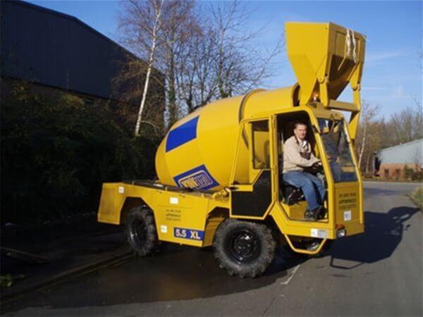 Self Loading Rough Terrain Concrete Mixers Utranazz