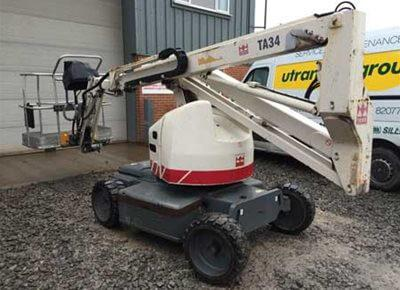 1 off Used TEREX model TA34 Articulated Boom Lift (Cherry Picker)