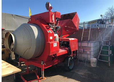 3 off Ex-hire Hydromix BIR750/ID Reversible Drum Concrete Mixers (2018)