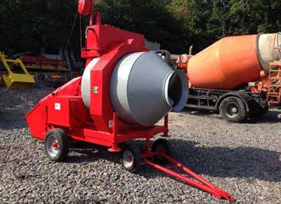 1 off Ex-Hire (year 2016) HYDROMIX BIR750/ID Reversible Drum Concrete Mixer
