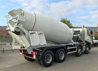 2 off New DAF / HYMIX P2-8021 8/9m3 Standard Transit Concrete Mixers (2017)