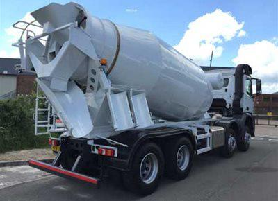 2 off Ex-hire MERCEDES / HYMIX model P8000H 8/9m3 Standard Transit Concrete Mixers