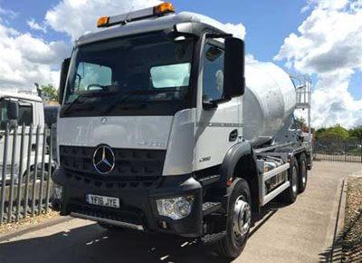 1 off Ex-hire MERCEDES / HYMIX model P6000 6/7m3 Standard Transit Concrete Mixer