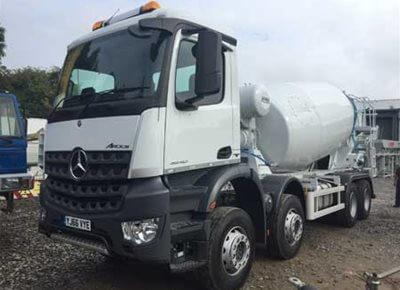 2 off Ex-demo MERCEDES / HYMIX model P8000 8/9m3 Standard Truck Concrete Mixers
