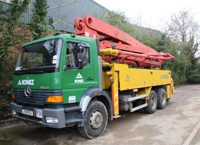 1 off used PUTZMEISTER 32/4 model BRF32.12 EM Truck Mounted Concrete Pump (1999)