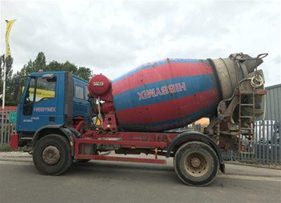 1 off Used FORD IVECO / HYMIX 5m3 Mini-Mix Transit Mixer (2003)