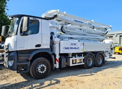 1 off New MERCEDES / SERMAC model ZENITH 5Z36 SCL130A Truck Mounted Concrete Pump (2020)