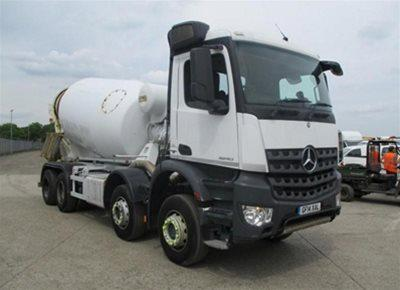 1 off Used MERCEDES / HYMIX model P8000 8m3 Standard Transit Concrete Mixer (2014)