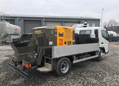 1 off New HYDROPUMP / TURBOSOL model TB40 City Pump Concrete Line Pump (2018)