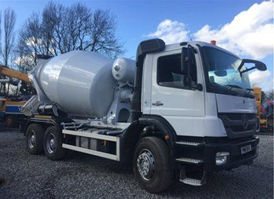 2 off Used MERCEDES / SCHWING-STETTER model AM7 FHC BL 6/7m3 Standard Transit Concrete Mixers (2012)