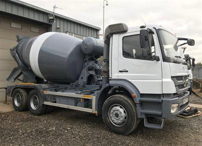 1 off Used MERCEDES / SCHWING-STETTER model AM FHC BL 6/7m3 Standard Transit Concrete Mixer (2012)