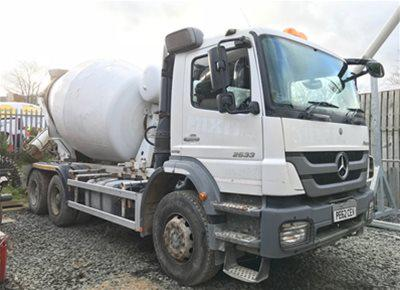 2 off Used MERCEDES / SCHWING-STETTER model AM7 FHC BL 6/7m3 Standard Transit Concrete Mixers (2013)