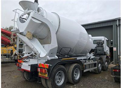 2 off Used MERCEDES / SCHWING-STETTER model AM8 FHC 8/9m3 Standard Transit Concrete Mixers (2011)