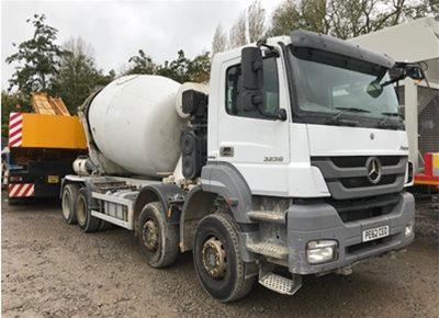 1 off Used MERCEDES / SCHWING-STETTER model AM8 FHC 8/9m3 Standard Transit Concrete Mixer (2013)