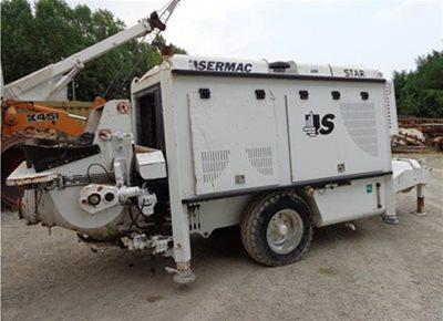1 off Used SERMAC model SCL100C Trailer Mounted Concrete Pump (2011)