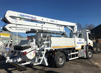 1 off New DAF / SERMAC model Zenith 4Z27 SCL100A Truck Mounted Concrete Pump