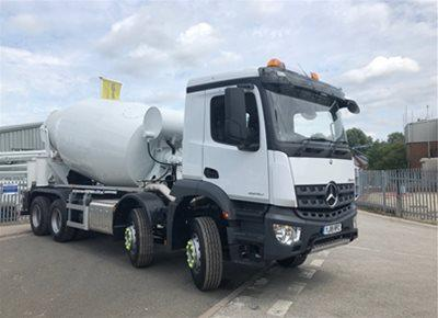 2 off New MERCEDES / McPHEE 8/9m3 Standard Transit Concrete Mixers (2018)