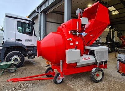 1 off New HYDROMIX BIR750/ID Diesel Reversible Drum Concrete Mixer (2020)