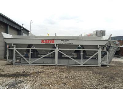 1 off Used / Refurbished HYDROMIX / SAMI model T4 Concrete Batching Plant (2008)