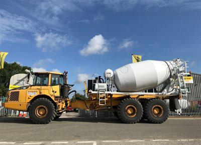 2 off Used HYMIX P2-6021DM 6m3 Concrete Mixer Units for ADT or as Remixer / Agitator (2017)
