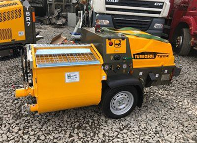 1 off New HYDROMIX / TURBOSOL model T20X Mortar, Screed, Plaster Mixer & Pump (2021)