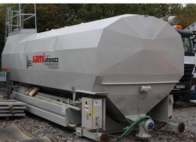 1 off Used / Refurbished HYDROMIX / SAMI model SPF28/DE Horizontal Cement Silo (2008)