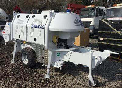 Trailer-Mounted Concrete Pumps