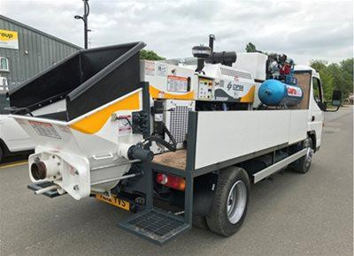 1 off Used HYDROPUMP model LS600 Concrete Line Pump (2015)