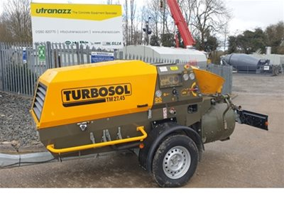 1 off Ex-Demo HYDROPUMP / TURBOSOL model TRANSMAT 27.45 DC/T Mortar & Screed Mixer/Pump (2019)