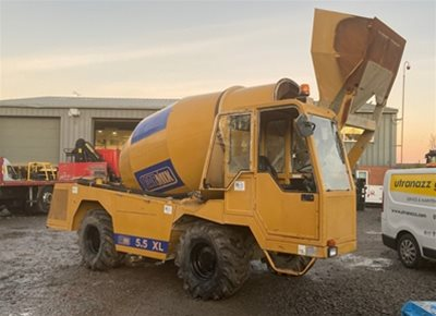 1 off Used HYDROMIX / CARMIX Model 5.5XL Rough Terrain Concrete Mixer (2017)