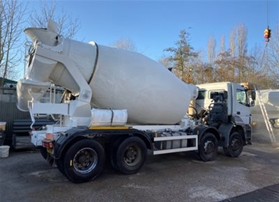 3 off Used MERCEDES / SCHWING-STETTER 8/9m3 Concrete Mixers (2013)