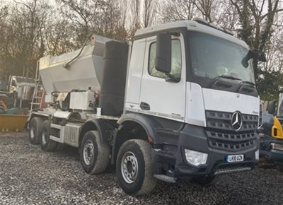1 off Used MERCEDES / HOLCOMBE model HM12H-E Volumetric Mobile Concrete Mixer (2018)