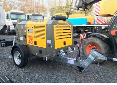 1 off New HYDROPUMP / TURBOSOL model TB40/T Trailer Mounted Concrete Pump (2020)