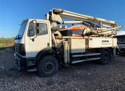 1 off Used MERCEDES / SCHWING 24/4 model P2020-90 KVM 24-4H Truck Mounted Concrete Pump