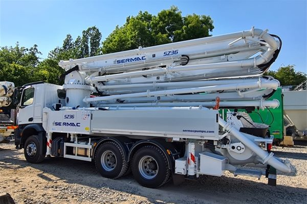 Why you should consider a Sermac truck-mounted concrete pump