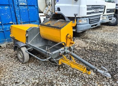 1 off Used TURBOSOL model PRO H DMF Mortar, Screed, Plaster Mixer & Pump (2012)